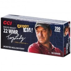 CCI Maxi-Mag Ammunition Troy Landry Special Edition 22 Winchester Magnum Rimfire (WMR)(MAG) 40 Grain Jacketed Hollow Point 200 Rds. Per Box