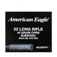 22 Long Rifle Federal American Eagle Suppressor Optimized 45gr CPRN Subsonic 50 Rds. AE22SUP1