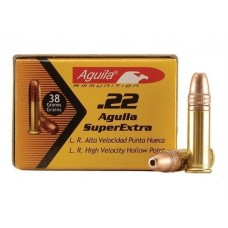 22 Long Rifle Aguila SuperExtra Ammunition 38 Grain Plated Lead Hollow Point 50 RDS.