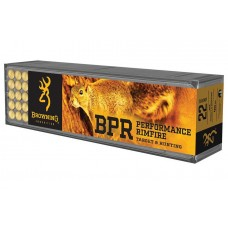 22 Long Rifle Browning BPR Hyper Velocity Ammunition 40 Grain Plated Hollow point bullet 100 RDS. B194122100