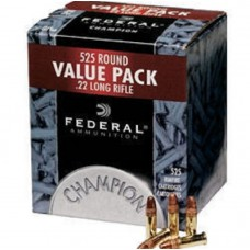 22 Long Rifle Federal Champion Ammunition 36 Grain Plated Lead Hollow Point 525 Rds.