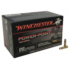 22 Long Rifle Winchester 42 Grain Max Power-Point Ammunition 50Rds. Per Box PP22LRH42U