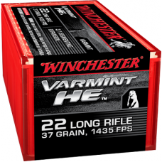 22 Long Rifle Winchester Varmint HE 37 gr Fragmenting Copper Plated Hollow Point (CPHP)50 Rds S22LRFSP