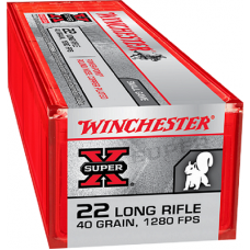 22 Long Rifle Winchester Super-X 40 Grain Power Point Copper Plated Round Nose 100 Rds. X22LRPP1