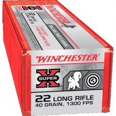 22 Long Rifle Winchester Super-X 40 Grain copper Plated Round Nose super Speed 100 Rds. X22LRSS1