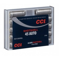 CCI Shotshell Ammunition 45 ACP Auto 120 Grains #9 Shot Box of 10 3745