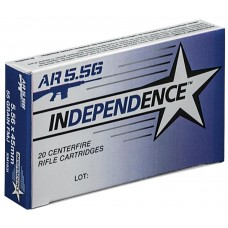 Independence Ammunition 5.56x45mm NATO 55 Grain M193 Full Metal Jacket Boat Tail 20 Rounds Per Box XM193I