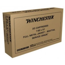 Winchester 7.62 x 51 NATO Military M80 Ball 147 Grain Full Metal Jacket SG76251W