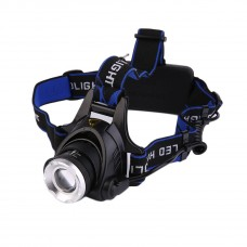2000LM CREE XM-L T6 LED Headlamp Zoomable HeadLight +18650 Battery+ Charger