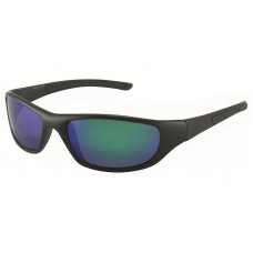 Premium Polarized Sports Wrap All Black Frame With Accent Color On Tips Color RV Lens