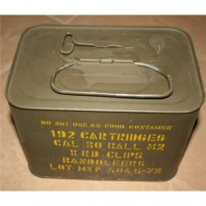 192 Rd. Sealed Spam can of Greek HXP .30-06 M2 Ball military surplus on M1 Garand clips
